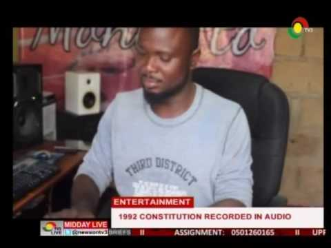 Ghana 1992 constitution recorded in audio  - 19/6/2016