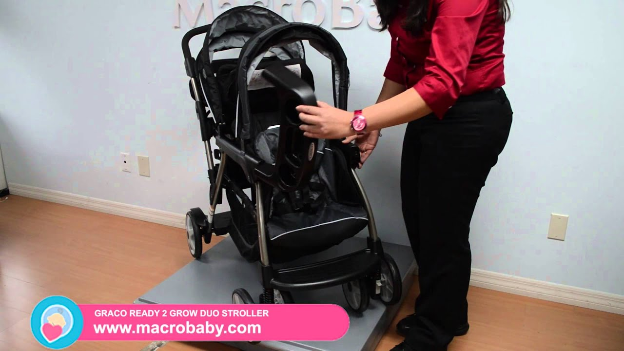 MacroBaby - Graco Ready 2 Grow Duo Stroller - YouTube