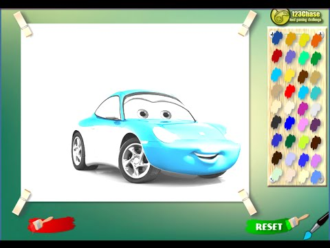 Disney Painting Games Disney Cars Coloring Pages - YouTube