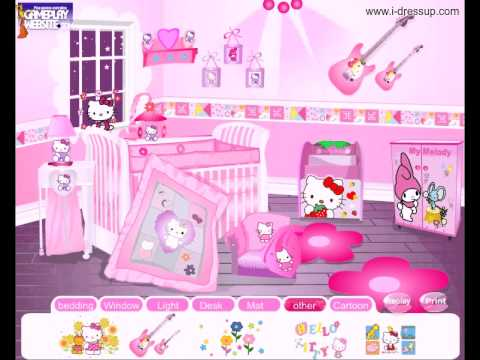 Hello kitty fan decoration room online video game baby - Decoration hello kitty chambre bebe ...