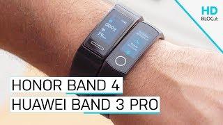 Recensione Honor Band 4 vs Huawei Band 3 Pro: diversamente uguali