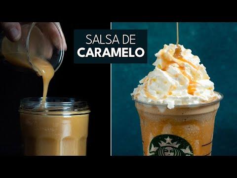 Receta Salsa de Caramelo Fácil ➡ Ideal para postres, helados, cafes,...