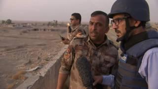 تقرير حصري لبي بي سي من على بعد اقل من اربعة كيلومترات من مدينة الموصل
