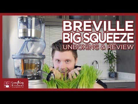 Breville Big Squeeze Slow Juicer Review, Unboxing & Test - BJS700