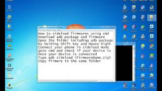 How to Install Rom Using sideload Command