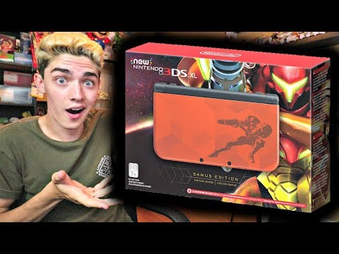 BRAND NEW SPECIAL EDITION METROID NEW 3DS XL! (REACTION)