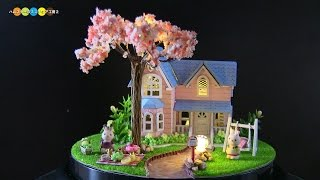 DIY Miniature Dollhouse kit - Cherry Conventions 桜のミニチュアドールハウス作り
