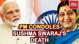 PM Modi Condoles Sushma Swaraj's Death, Watch Reactions From Other Leaders