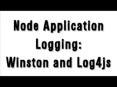 Learn Node js, Unit 10: Logging Node applications with