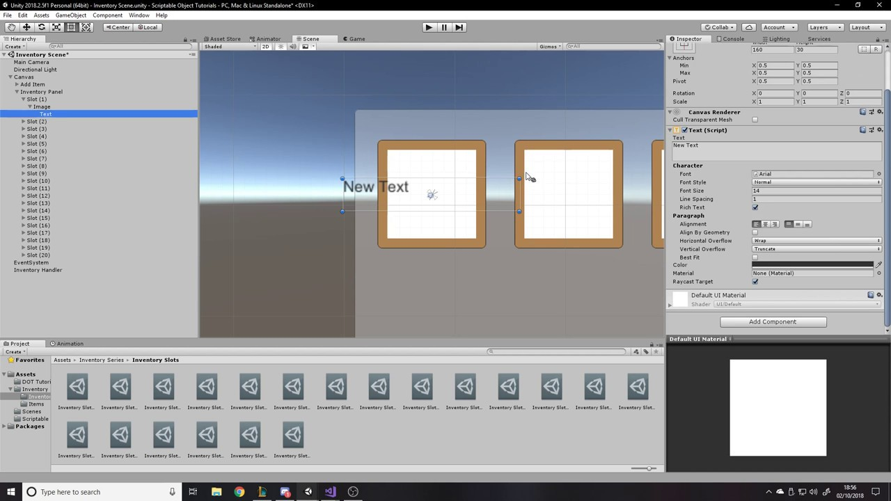 Item and Inventory System - Unity Tutorial - Stacking Items and Utilising  Scriptable Objects