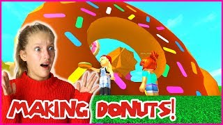 MAKING GIANT DONUTS!