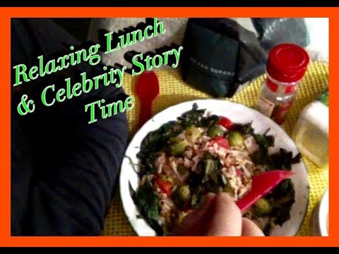 ASMR Homemade Spaghetti Pasta Salad, Story time, gentle whispering up close to Mic