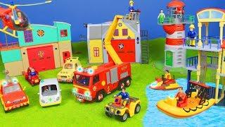 Feuerwehrmann Sam Unboxing: Neue Feuerwehrautos & Best Rescue Station für Kinder deutsch