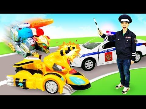 Монкарт стал полицейской машиной! Видео игры. Автомастерская.
