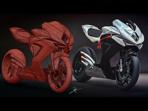 3Ds Max Timelapse | MV Agusta F3 Motorbike