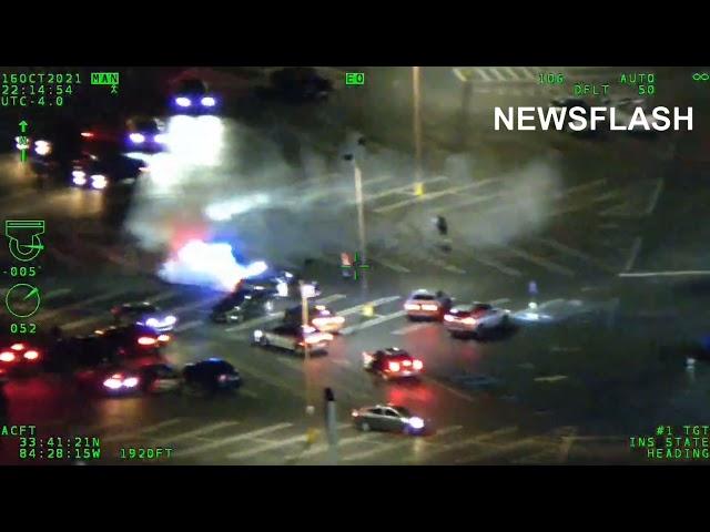 Fast And Furious Atlanta Drift: US Cops Corner Street Racer Doing Doughnuts In Car Park