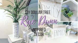 DIY DOLLAR TREE RAE DUNN INSPIRED DECOR