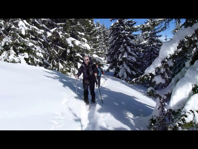 Snowshoe Walking in the Beaufortain - Alps - France
