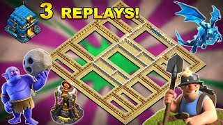 💥3 REPLAYS!💥NEW TH12 WAR BASE 2018 Anti Everything BoWitch,Electro Dragon,Anti Queen Walk,Hog