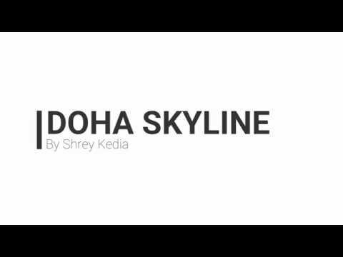 Doha Qatar Skyline Timelaps
