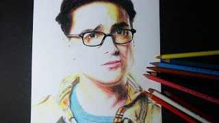 How to draw Leonard  (The Big Bang Theory)