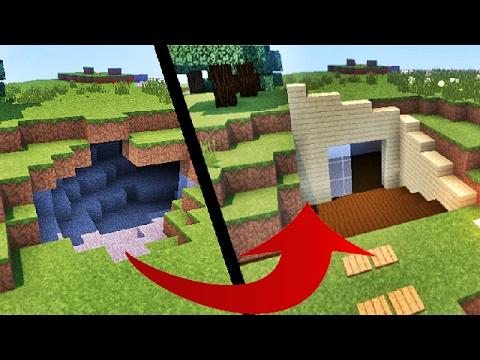 Comment transformer une caverne en maison moderne sur minecraft tuto youtube - Comment faire une maison moderne dans minecraft ...