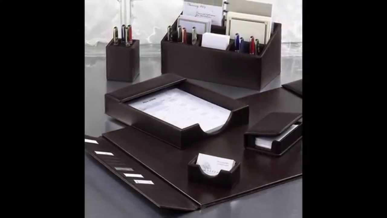 Leather desk accessories - Leather Desk Accessories By Droppingtimber Com