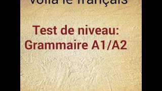 Test de niveau Grammaire A1/A2