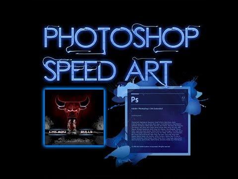 Photoshop Speed Art - Chicago Bulls Logo