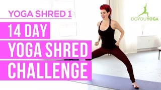Cardio Yoga for Fat Burning - Day 1 - 14 Day Yoga Shred Challenge