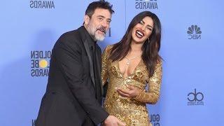 Priyanka Dazzles With Jeffrey Dean Morgan At Golden Globe Awards 2017   Latest Bollywood News