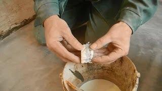 Гипсокартон и Ротбанд,тест на совместимость.(Можно ли куски,обрезки и не нужные остатки гипсокартона добавлять в гипсовую штукатурку ротбанд,как заполн..., 2014-02-12T16:55:32.000Z)