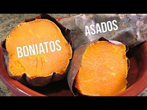 Boniatos asados al horno (batatas)