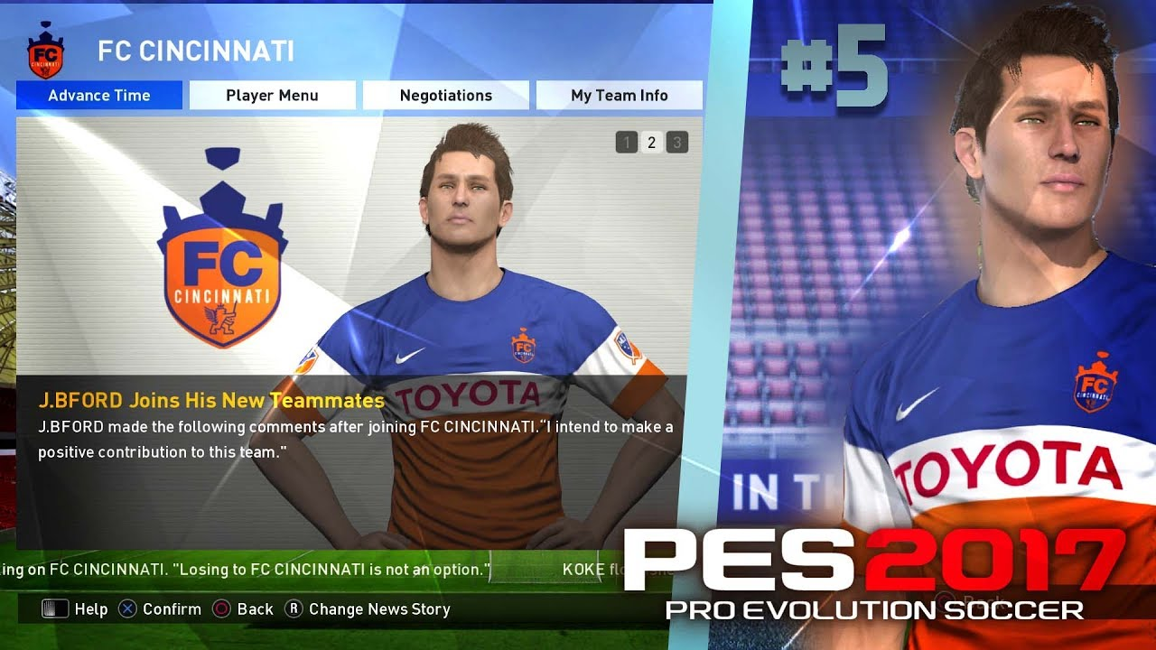 buy popular 6dc8e fbb45 OUR NEW TEAM! JOINING FC CINCINNATI!   PES 2017 Become A Legend   Episode #5