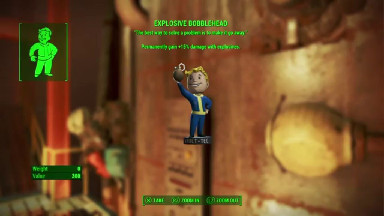 Fallout 4 Explosive Bobblehead And Picket Fences Saugus Ironworks Youtube