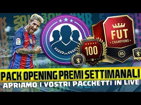 FIFA 17 PACK OPENING PREMI SETTIMANALI + SBC SU VARI ACCOUNT IN LIVE + APRIAMO I VOSTRI PACCHETTI