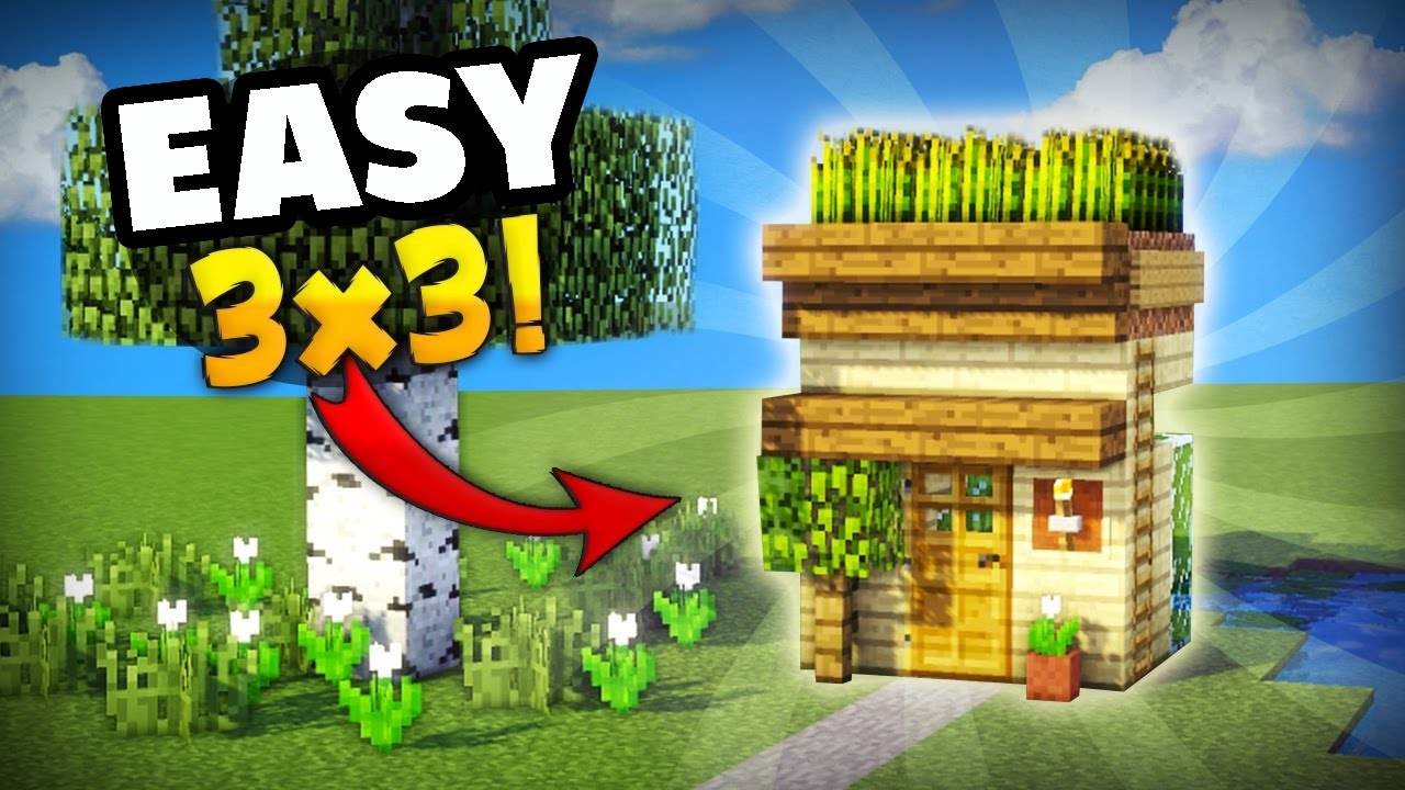 Minecraft How To Make The Smallest House You Can Make In Survival Great For Your First Day Youtube
