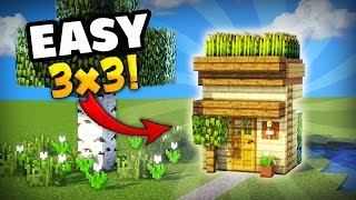 MINECRAFT: HOW TO MAKE THE SMALLEST HOUSE YOU CAN MAKE IN SURVIVAL! GREAT FOR YOUR FIRST DAY