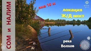 Російська рибалка 4 - річка Волхов - Соми та мині у Ж/Д моста