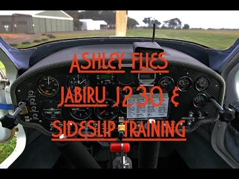 Recreational Pilot Training  l  Ashley  l  Tries Jabiru J230 and sideslips
