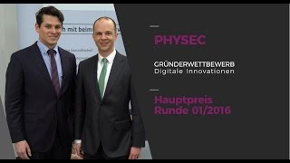 "Interview: Physec, Hauptpreis ""Gründerwettbewerb - Digitale Innovationen"""