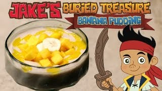 Jake's Banana Pudding With Mango Purée And Banana Sliced Doubloons & Mango Gold Bars | Disney