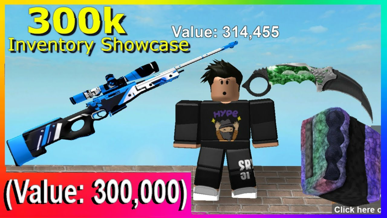 300k Value Inventory Showcase! (RARE SKINS In Counter Blox)