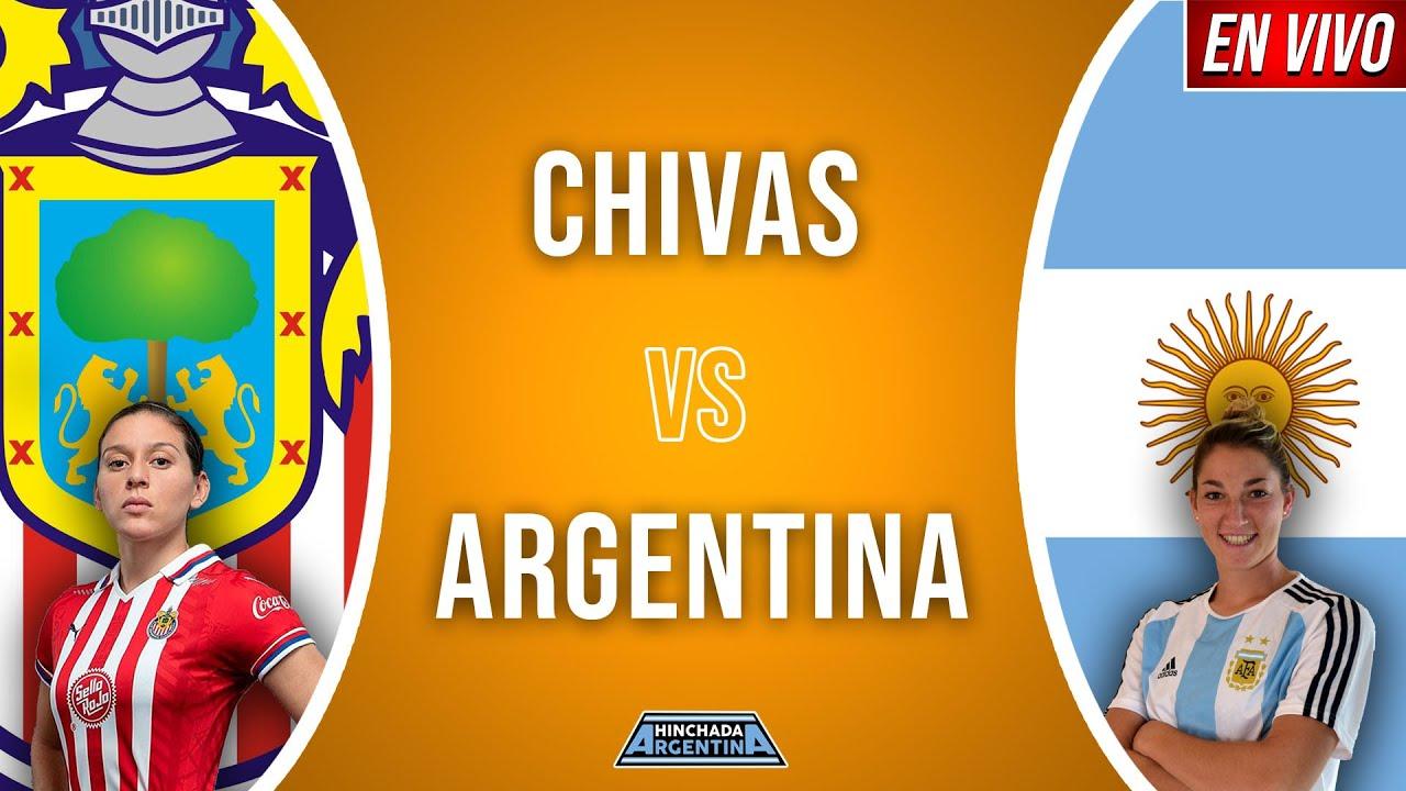 CHIVAS VS ARGENTINA FUTBOL FEMENINO EN VIVO 🔴 | AMISTOSO - ONLY AUDIO