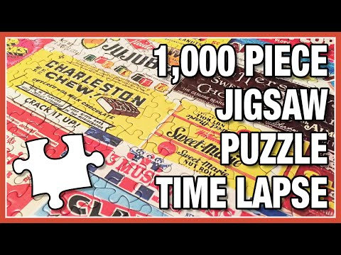 Vintage Candy Wrappers - 1000-pc Puzzle Timelapse from YouTube · Duration:  1 minutes 33 seconds