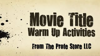 Spanish Movie Title Activity Preview