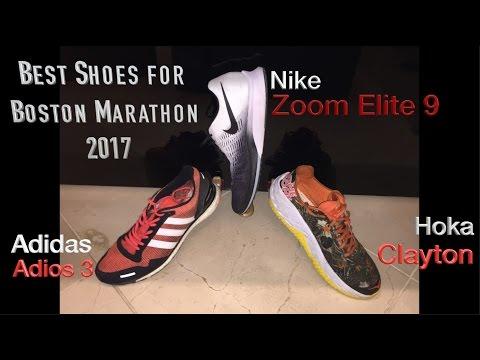 Top Boston Marathon shoes in-depth analysis: Adidas Adios 3, Hoka Clayton, Nike Zoom Elite 9
