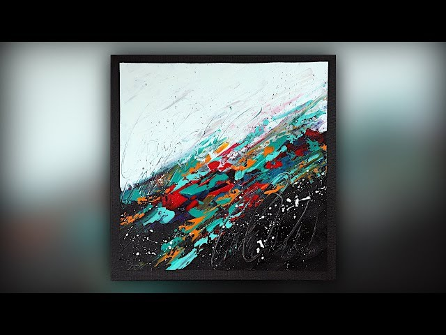 Abstract Painting / Colorful / Acrylic Paint / Palette Knife Technique / Demo #063
