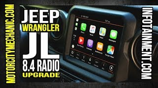 Jeep Wrangler JL 8.4 radio upgrade from Infotainment.com