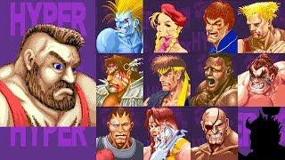 ハイパー スト2 初代 ザンギ で クリア Hyper Street Fighter 2 Fast Zangief Clear →↓←↑+PUNCH